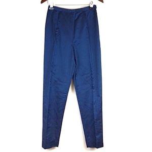 Oscar De La Renta Blue Silk Blend Pants Size 6
